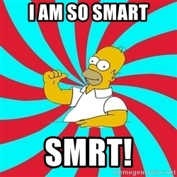 Frases Homero Simpson - i am so smart smrt!
