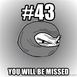 Ninja guy - #43 You will be missed