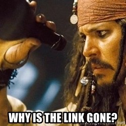 Jack Sparrow rum empty - Why is the link gone?