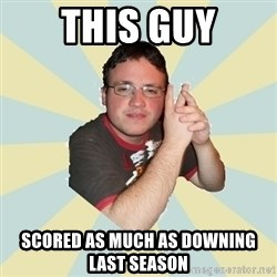 HOPELESS RETARDED GUY - This GUY SCORED AS MUCH AS DOWNING LAST SEASON