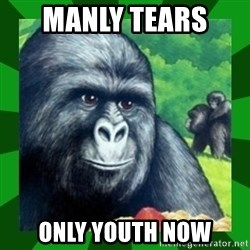 Gorilla Munch Gorilla - manly tears  only youth now