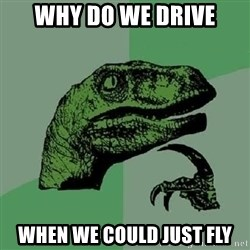 Philosoraptor - why do we drive when we could just fly