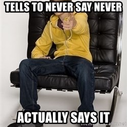 Justin Bieber Pointing - Tells to never say never Actually says it