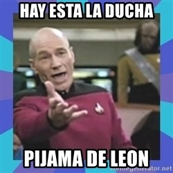 what  the fuck is this shit? - hay esta la ducha pijama de leon
