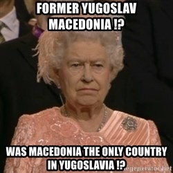 The Olympic Queen - Former yugoslav Macedonia !? was Macedonia the only country in yugoslavia !?