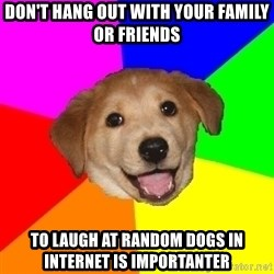 Advice Dog - DON'T HANG OUT WITH YOUR FAMILY OR FRIENDS TO LAUGH AT RANDOM DOGS IN INTERNET IS IMPORTANTER