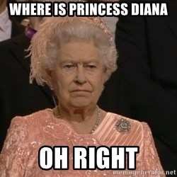 Angry Elizabeth Queen - where is princess diana oh right