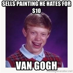 nerdy kid lolz - sells painting he hates for $10 van gogh