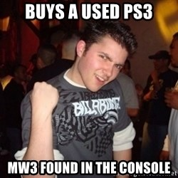 Old Success Kid - buys a used ps3 MW3 found in the console