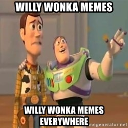 X, X Everywhere  - willy wonka memes willy wonka memes everywhere