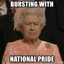 The Olympic Queen - Bursting with national pride