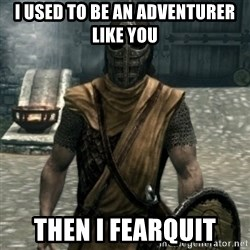 skyrim whiterun guard - i used to be an adventurer like you then i fearquit