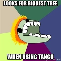 Average Dota Player - looks for biggest tree when using tango