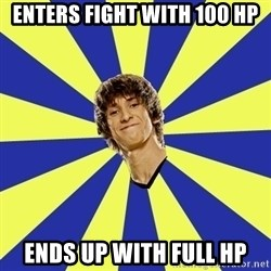 dendi - Enters fight with 100 hp ends up with full hp