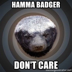 Fearless Honeybadger - Hamma badger Don't care