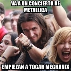 Ridiculously Photogenic Metalhead - va a un concierto de metallica empiezan a tocar mechanix