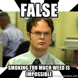 Dwight from the Office - FALSE SMOKING TOO MUCH WEED IS IMPOSSIBLE