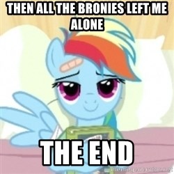 Cute Book Holding Rainbow Dash - then all the bronies left me alone the end