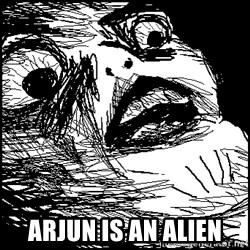 Surprised Chin - Arjun is an Alien