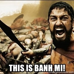 This Is Sparta Meme - this is banh mi!