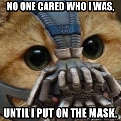 bane cat - No one cared who I was, until I put on the mask.