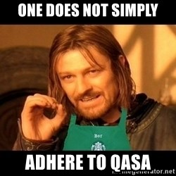 Barista Boromir - one does not simply adhere to qasa