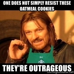Barista Boromir - one does not simply resist these oatmeal cookies they're outrageous