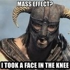 Skyrim Meme Generator - I took a face in the knee