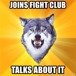Courage Wolf - JOINS FIGHT CLUB TALKS ABOUT IT