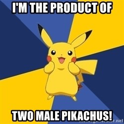 Pokemon Logic  - i'm The product of two male pikachus!