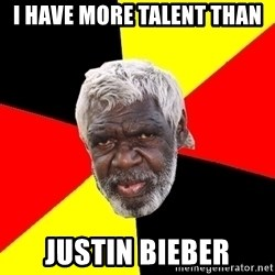 Abo - I have more talent than Justin Bieber