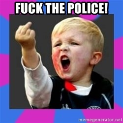 Kid middle finger - FUCK THE POLICE!