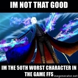 UMVC3 Vergil - im not that good im the 50th worst character in the game ffs