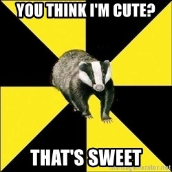 PuffBadger - you think i'm cute? that's sweet