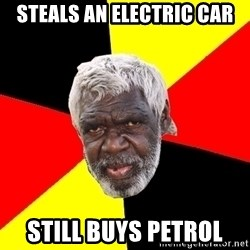 Abo - steals an electric car still buys petrol