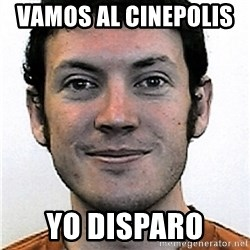 James Holmes Meme - vamos al cinepolis    yo disparo