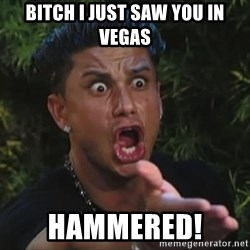 Pauly D - BITCH I JUST SAW YOU IN VEGAS HAMMERED!