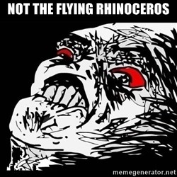 Rage Face - Not the flying rhinoceros