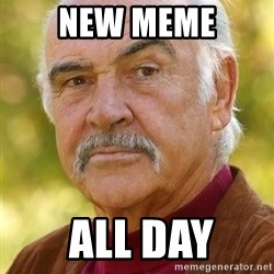 Sean Connery Moustache - New meme  All Day