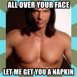 Considerate Boyfriend Nick Manning - all over your face let me get you a napkin