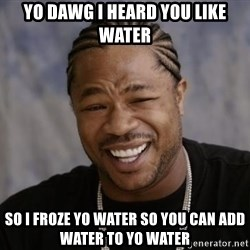 xzibit-yo-dawg - Yo dawg I heard you like water So I froze yo water so you can add water to yo water