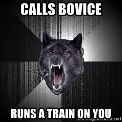 Insanity Wolf - Calls Bovice Runs a Train on YOu