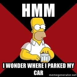 Homer Jay Simpson - hmm i wonder where i paRKED MY CAR