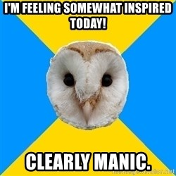Bipolar Owl - i'm feeling somewhat inspired today! clearly manic.