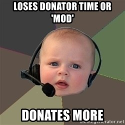 FPS N00b - loses donator time or 'mod' donates more
