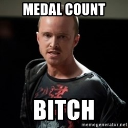 Jesse Pinkman says Bitch - medal count bitch