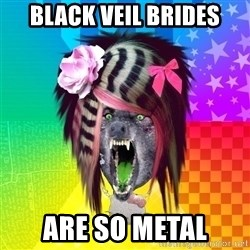 Insanity Scene Wolf - Black veil brides are so metal
