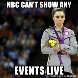 unimpressed McKayla Maroney 2 - Nbc can't show any  EVENTS LIVE