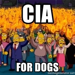 simpsons anger mob - CIA for Dogs