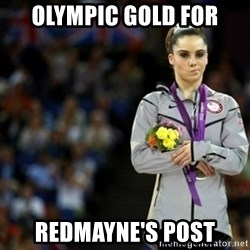 unimpressed McKayla Maroney 2 - OLYMPIC GOLD FOR Redmayne's post